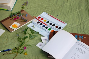 Cassi watercolors picnic